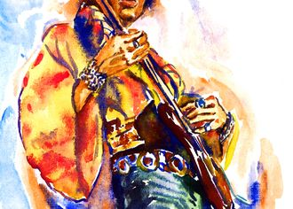 Jimy Hendrix - malba