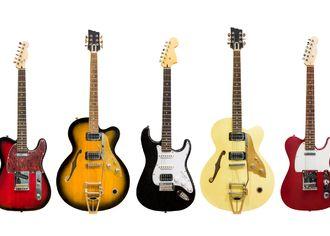 kytary na bílém pozadí