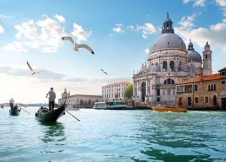 Pohled na katedrálu svatého Marka v Benátkách