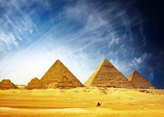 Pyramidové pole v Gíze - Egypt