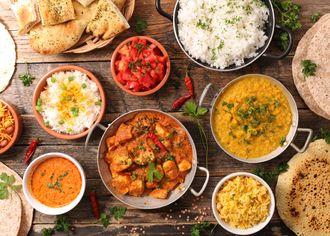 Misky s indickou kuchyňou